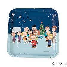 peanuts christmas christmas paper dinner plates
