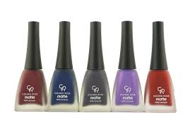 amazon com golden rose matte nail polish set of 5 beauty