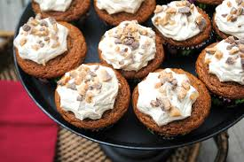 Pumpkin Cupcakes by Pumpkin Cupcakes With Maple And Toffee Frosting Shugary Sweets