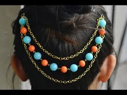 how to make hair accessories with and chains