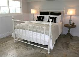 White Frame Bed King Size Iron Bed Canopy Uniqueness King Size Iron Bed Style