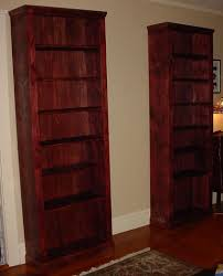 decor cherry wood tall bookcase with interior paint ideas and