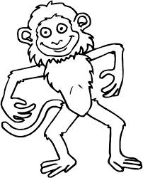 coloriage pour enfant singe