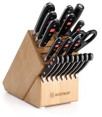amazon com wusthof classic 20 piece knife set with block kitchen