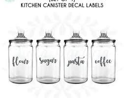 kitchen canister labels kitchen jar labels etsy
