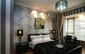 Gold And Grey Bedroom by Bedroom Charming Grey Bedroom Wallpaper Art With Black Curtain