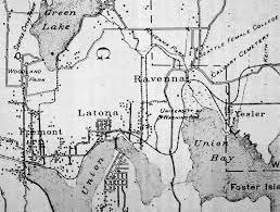 Lake Washington Map by Seattle Now U0026 Then The Wallingford Wall At The Latona Knoll