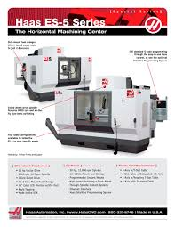 haas es 5 series haas automation pdf catalogue technical