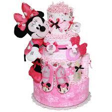 cute minnie mouse diaper cake 182 00 diaper cakes mall