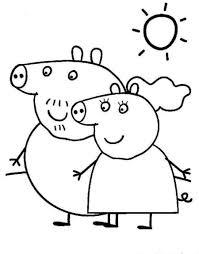 peppa pig da colorare bambini