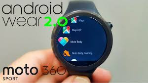 android wear android wear 2 0 on the moto 360 sport finally