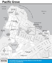 San Simeon Map Pacific Coast Route Sights In Pacific Grove California Road