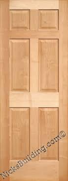 Solid Maple Interior Doors Maple Doors Maple Interior 6 Panel Doors