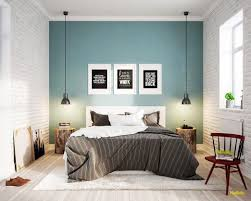 chambre peinture bleu deco peinture bleu murale idee gris papier peint decoration