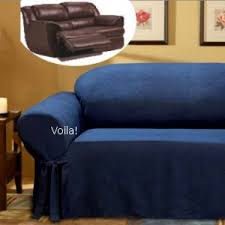blue reclining sofa and loveseat reclining loveseat slipcover adapted for dual recliner love seat