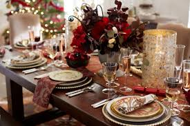 pottery barn christmas table decorations christmas dinner ready with hurricanes bold blooms home