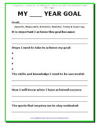 11 effective goal setting templates for you stunning motivation