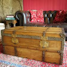 coffee table antique leather travel trunk c 1890 coffee table size