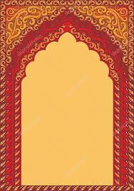arch style indian ornaments template for text stock vector