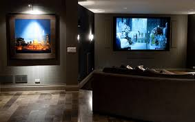 interior beautiful home theater in living room design ideas with