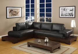 Leather Sofa Wooden Frame Royal Look Living Room With Leather Brown Sofa Set In Wooden Frame