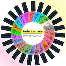 perfect summer nail gel polish colorful series shellac kit 010