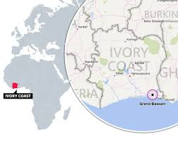 africa map ivory coast grand bassam attack shows tourists fleeing gunmen in ivory