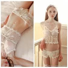 wedding laungerie simple lace bridal undergarments wedding set bridal