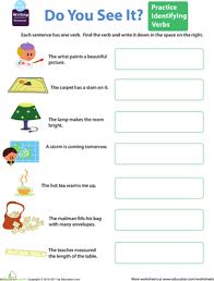 get into grammar spot the verbs worksheet education com