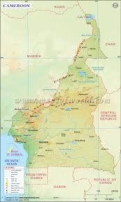 map of cameroon map
