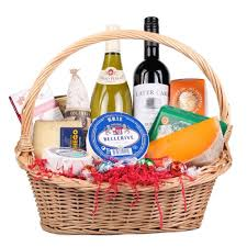 wine and cheese gift baskets wine cheese lover s gift basket deluca s market