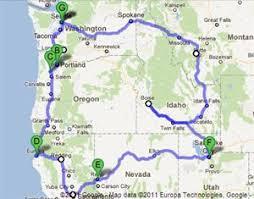 road map northwest usa hitting the road again blogabond