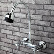 wall mount kitchen sink faucet rotatable wall mounted kitchen sink faucet