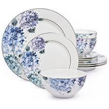 12 hydrangea blue bone china dinner set co uk
