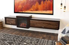 Wall Mounted Tv Cabinet Furniture Floating Fireplace Wall Mount Tv Stand Eco Geo Espresso Woodwaves