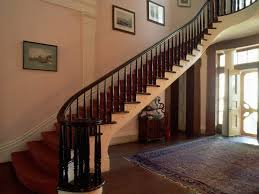 Solid Banister Interior Wooden Railing Stairs For Lovely Home Stunning Stairs