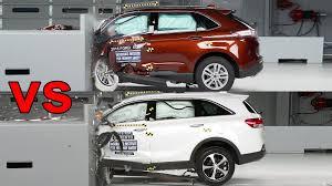 Ford Edge Safety Rating Crash Test 2016 Ford Edge Vs 2016 Kia Sorento Youtube