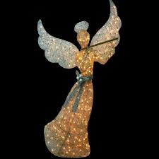 lighted angel christmas decoration holiday christmas lighted holy 60 gold angel outdoor natvity scene