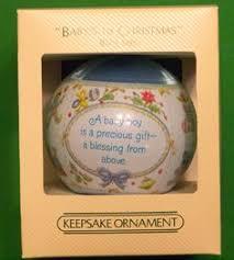 Baby Keepsake Ornaments 1982 Hallmark Designer Keepsake Satin Ornament