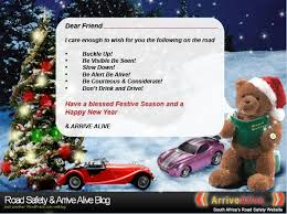 festive season road safety wishes for our friends road safety