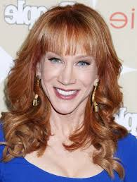 haircut with bangs women over 50 kathy griffin feminine long curly hairstyle with bangs for women