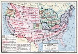 map of the us states in 1865 prison culture image of the day map status of slavery in the