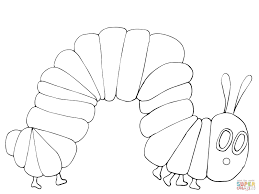 very hungry caterpillar coloring page supercoloring com
