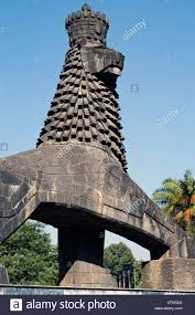 lion of judah statue the lion of judah downtown addis ababa stock photo
