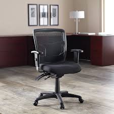 Executive Office Chairs Fabric Lorell 86201 86000 Series Managerial Mid Back Chair Fabric Black