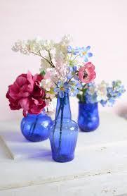 cobalt blue glass vase arafen