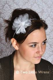 white flower headband flower headbands headband with flower handmadeables