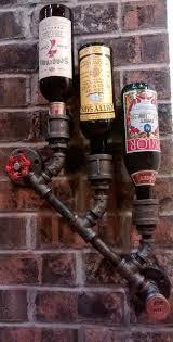 Barn Board Wine Rack 3 10 Bottle Customizeable Industrial Wine Rack Wall Mount