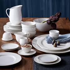 textured dinnerware set white west elm