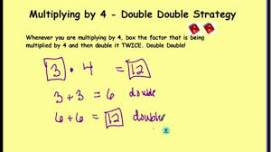 what is multiplication multiplying by 4 strategy on vimeo